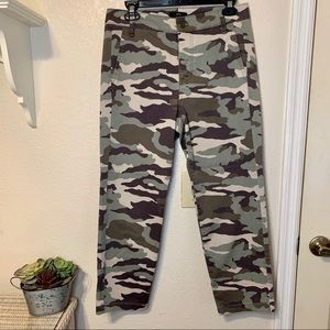 J. Crew Button Fly Camo Straight Leg Copped Pants